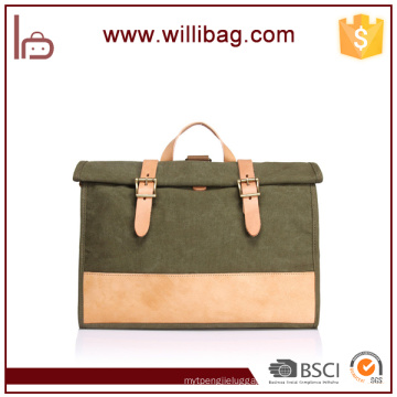 New Trend Artistic Briefcase Shoulder Bag Canvas Handbag