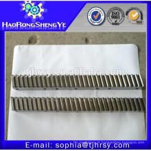 Rack de engrenagem de material de alumínio / aço de HRSY