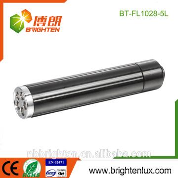 Fabrik Versorgung Gehäuse Verbrauch Aluminium Material AA Batterie angetrieben 5 Led Taschenlampe Tasche Günstige LED-Taschenlampen
