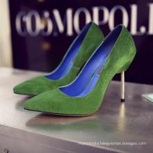 beautiful pictures of steel thin heel women shoes