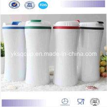 Gros thermique extérieure inox thermos en plastique intérieur, Auto Mug, tasse à café