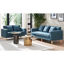 Sofá de tela de diseño simple, muebles de sala de estar