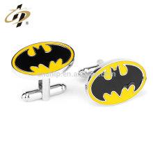 Fashion custom metal batman wedding souvenir gift cufflinks for men