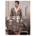 Fashion Men's Tiger Pattern Printed Fleece Bathrobe