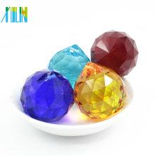 30 MM Decoração de Casamento Safira Pendurado Multi-Facetada Pingente de Luz K9 Bola De Cristal Lustre