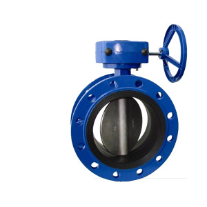 Double Flanged akhir Butterfly Valve