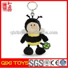 Qixi jouets design professionnel abeille porte-clés