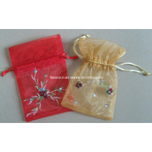 Organza Bag with Embroidery Logo