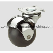 1.6inch Rubber Swivel Ball Caster Wheel