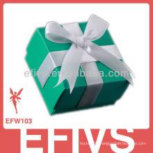 Hot Sale Elegant Bowknot Green Wedding Favor Box Supplier