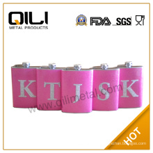 Leather stainless steel homeware cheap personalized flasks