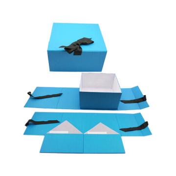 Flach gepackte Druckpapier-Kasten-faltender faltbarer gefalteter Magnetpappverpackungs-Geschenkkasten