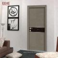 Chapa de PVC de puerta de baño de madera de diseño simple MDF