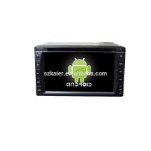 Quad core! Dvd do carro com ligação espelho / DVR / TPMS / OBD2 para 6.2 polegada tela sensível ao toque quad core 4.4 sistema Android Universal 2