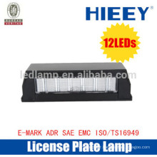 2015 Offroad License plate lamp with E-MARK truck license plate lamp number plate light