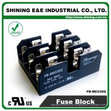 FB-M033SQ Bloco de terminais de fusíveis de 3 vias montados em trilho de painel e trilho DIN