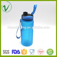 Cilindro vacío de grado alimentario PCTG que bebe 600ml botella plástica de agua