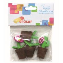 4pcs Flowerpot Eraser
