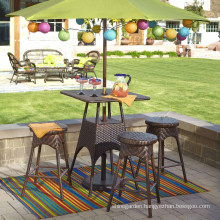 Outdoor Furniture Rattan Garden Patio Wicker Bar Set