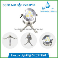 3watt IP68 LED Underwater Light for 316 Stainless Steel