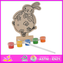 2014 New Play Paint Toy Baby Toy, Cheap DIY Wooden Toy Baby Toy, Educational Toy Wooden Paint Baby Toy W03A052