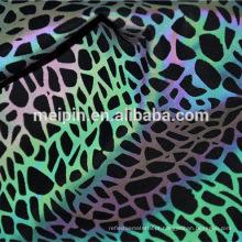 Tecido de tricô reflexivo de arco-íris