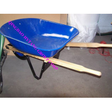wooden handle 100L tray wheelbarrow