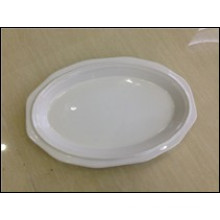 Stock Items in Stoneware 11.75 Inch Oval Plate (JSD-STK11.75)