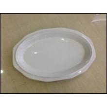 Lager Artikel in Steinzeug 11,75 Zoll Oval Platte (JSD-STK11.75)