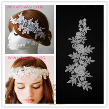 Bold White Lace Wedding Dress Flower Headdress Accessories