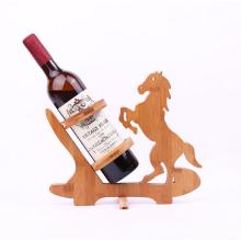 suporte de garrafa de vinho de madeira decorativa
