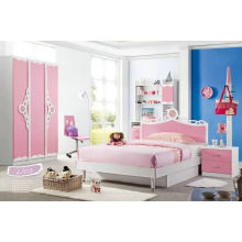 Pink Color Children Bedroom Sets (L103)