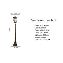 Hot sale Pagoda solar lamp post single lamp