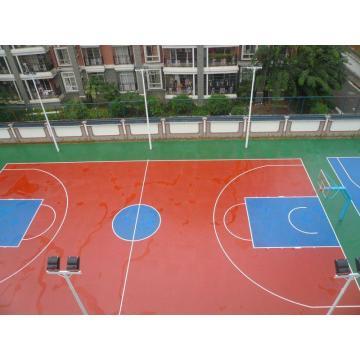 Roll Indoor PVC Deportes Piso / Baloncesto Piso / Mat Fiba Certificado Superficie de madera