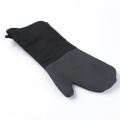 Black Silicone  and Cotton Oven Gloves