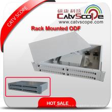 """ODF-5 2u / 19 """"caixa de distribuição montada cremalheira de cabo de fibra óptica de 48c / ODF"""