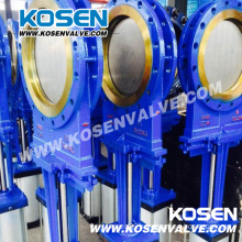 Cast Steel Flanged Knife Gate Valve (PZ43H)
