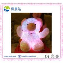 LED розовый светящийся плюшевый мишка в горячей продаже