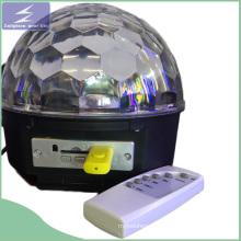 MP3 светодиодный хрустальный шарик с дистанционным управлением