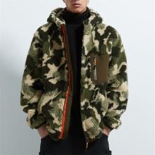 Chaquetas de vellón Sherpa de camuflaje características personalizadas