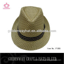 Lã sentiu chapéu de fedora rosa chapéu de fedora amarela chapéus de palha baratos