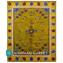 8'x10' Golden Antique Handmade Tibetan Rug