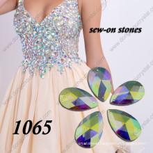 Ab Flat Back Glass Stone for Wedding Dress Decoration