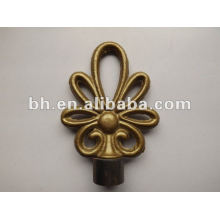 Chinese knot style hot sale iron curtain pole finials