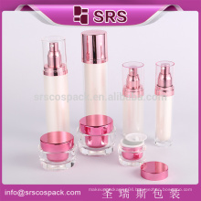 China Drum Shape Cosmetic Bottle With Round Cap Made Of Acrylic Empty Plastic Bottle