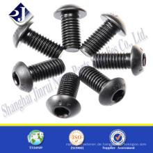 China Supplier Grade 4.8 / 8.8 / 10.9 / 12.9 Black Button Kopfschrauben