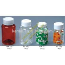 Botella plástica de la botella del plástico de la botella 100ml botella de la píldora del medecine de la botella