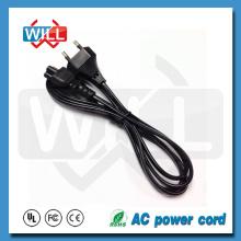 2Pin Euro AC Power Cord H03VVH2 - F 2x0.75mm2