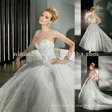 Нью-Йорк-2500 сверкающие тюль бальное платье с возлюбленной декольте свадебное платье