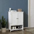 Armário de banheiro ereto livre com o armário de armazenamento ajustável da entrada Armário de armazenamento de madeira da entrada branco